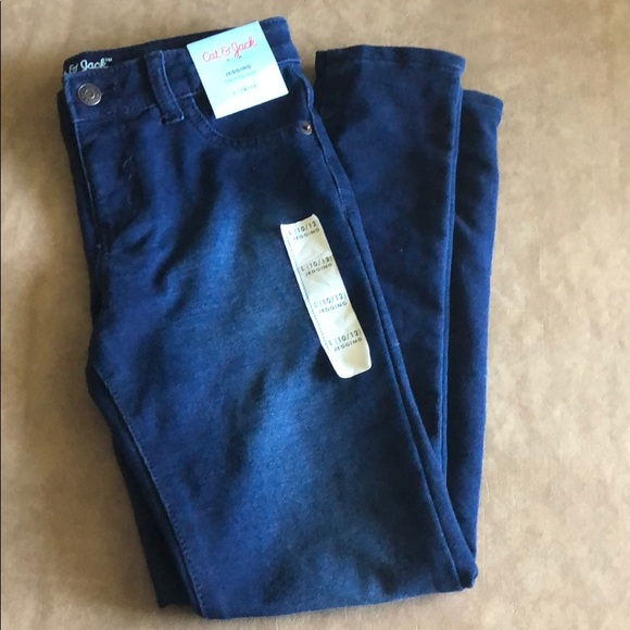 2b3987cf130a5 Cat & Jack Other | Target Girls Jeggings 1012 Stretch Dark Blue Nwt ...